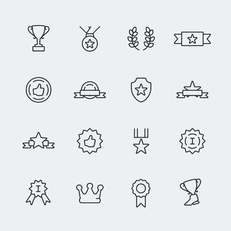 primer lugar: Premios del vector de mini iconos conjunto Vectores