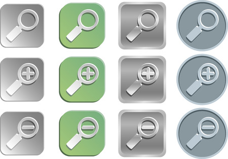 Zoom search icons Vector