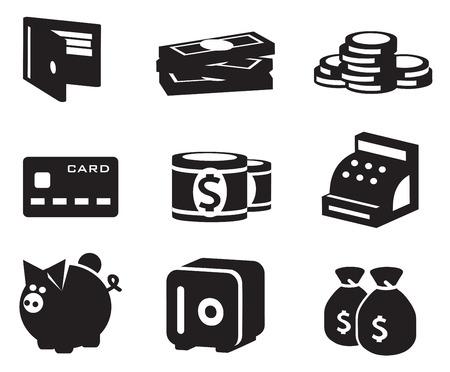 bankroll: Money icons set