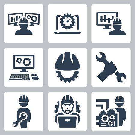 ingeniero: Iconos conjunto de vectores de Ingenier�a