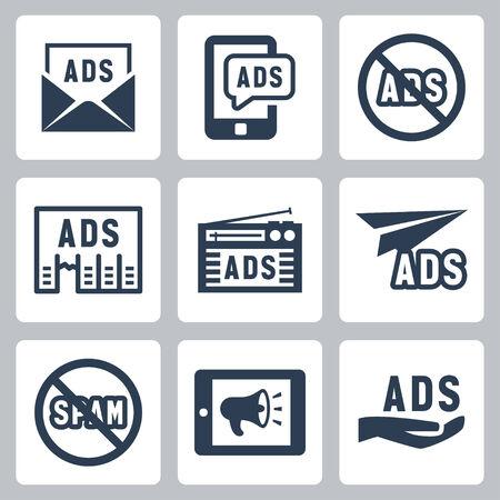 advertisement: Werbung Vektor-Icons gesetzt # 2