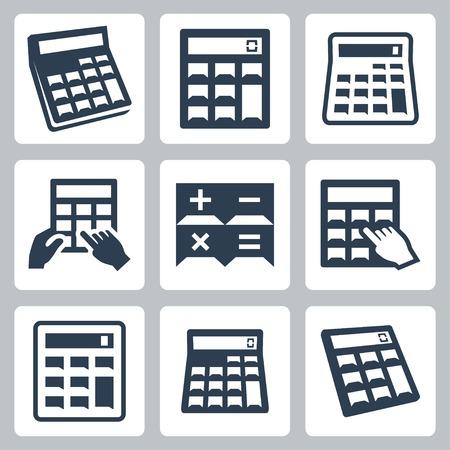 calculator icon: Calculators icons set