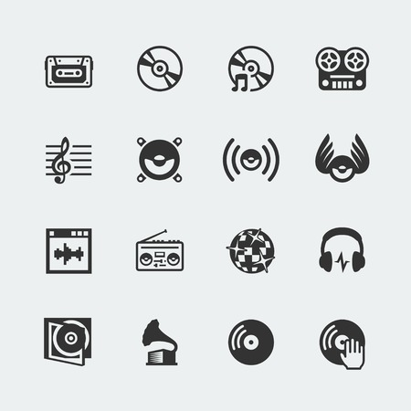 Music related icons set