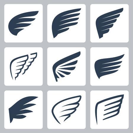 bird wings: wings icons set