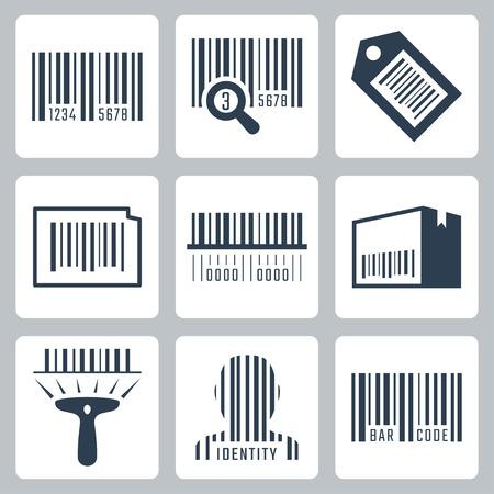 codigos de barra: Código de barras vector iconos relacionados Juego