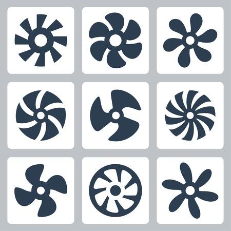 プロペラ ファン ベクトル アイコンを設定  イラスト・ベクター素材