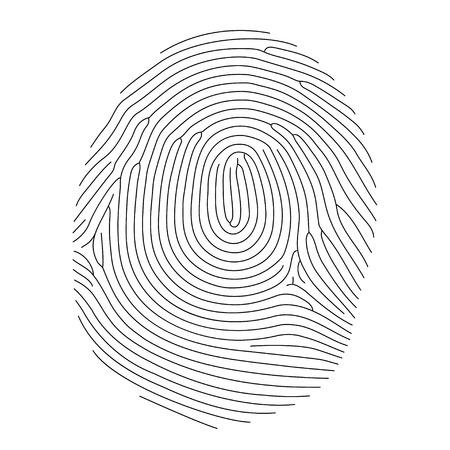 Vector fingerprint, thin line style Illustration