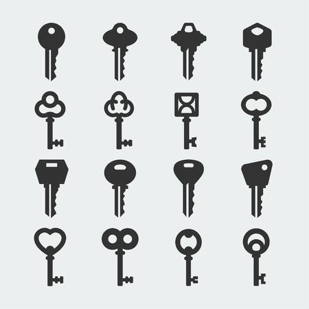 house keys: Vector key icons set