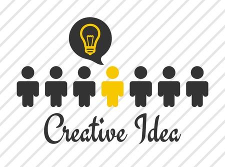 teammates: Creative Idea vector poster