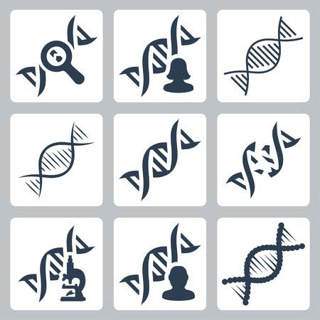DNA-gerelateerde vector iconen set