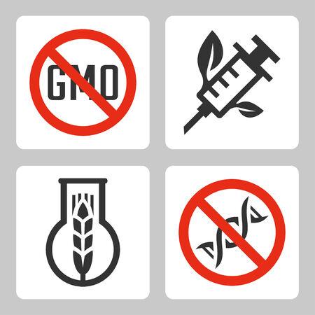 gmo: Vector GMO related icons set Illustration