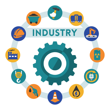 Industry related vector infographic, flat style Vector