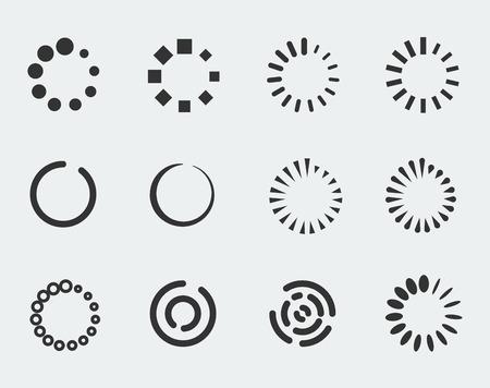 circle shape: Loading indicators vector icon set Illustration