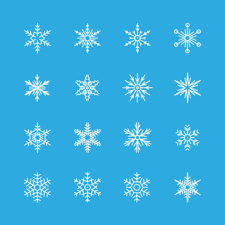 lightweight ornaments: Snowflakes vector icon set Illustration