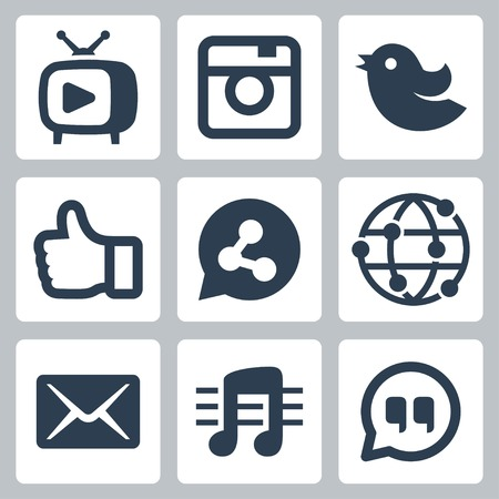 follower: Set of social network icons