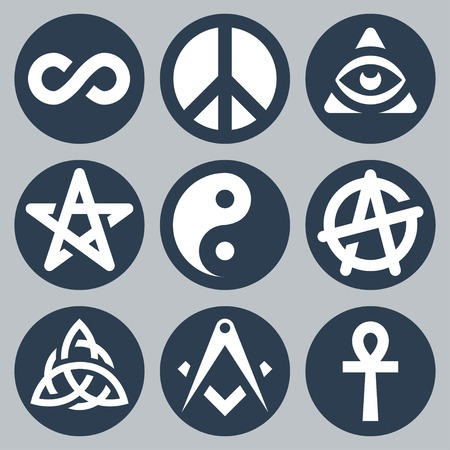 anarchism: Symbols set Illustration