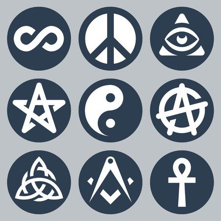 ankh: Symbols set Illustration