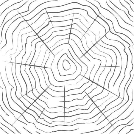 tree ring: Vector tree rings background Illustration