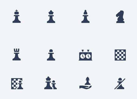 caballo de ajedrez: Ajedrez iconos relacionados con el conjunto de vectores