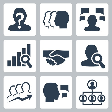 People, business and job related vector icon set Vectores