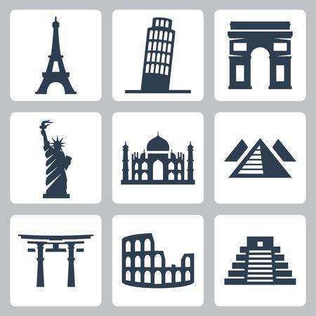 triumphal: Showplaces vector icons set