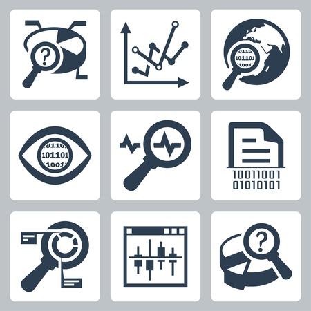 auditoria: Los datos vectoriales an�lisis conjunto del icono