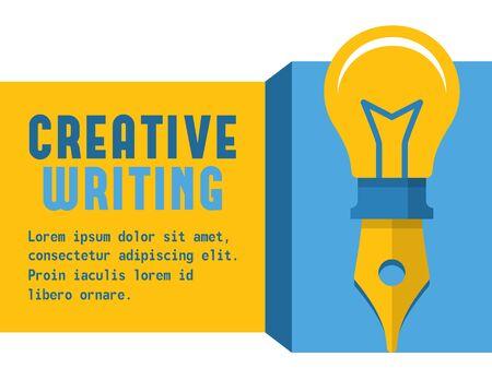 escritura: Vector concepto de escritura creativa