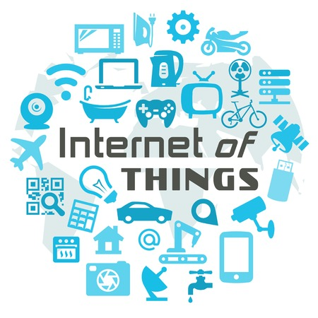 internet icons: Internet of Things vector concept illustration