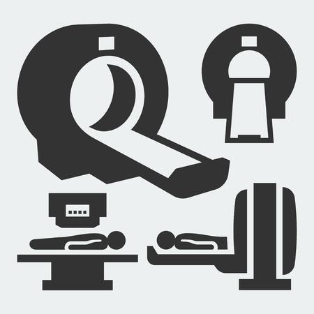 MRI diagnostic vector icons