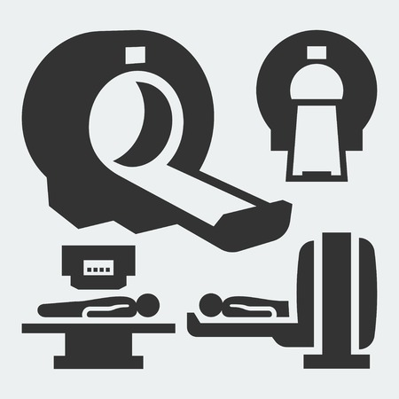 imaging: MRI diagnostic vector icons
