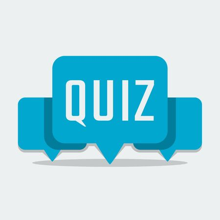 quiz: Quiz related concept vector illustration