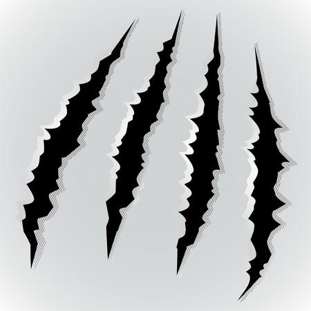 モンスターの爪スクラッチのベクトル イラスト  イラスト・ベクター素材