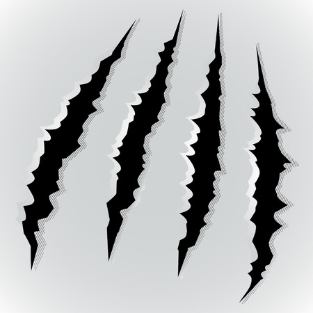 marks: Vector illustration of monster claw scratch