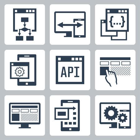 Interfejs programowania aplikacji ikony zestaw