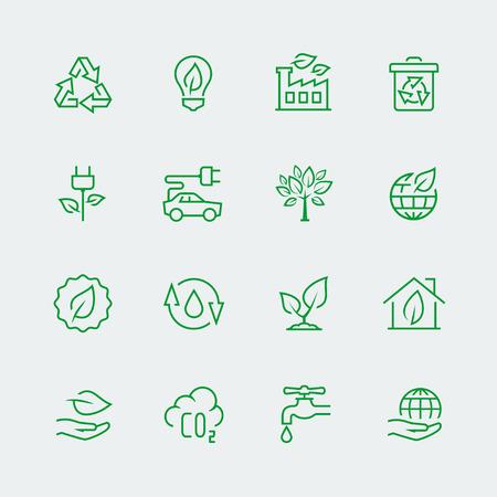 logo recyclage: Vecteur écologique icône ensemble Illustration