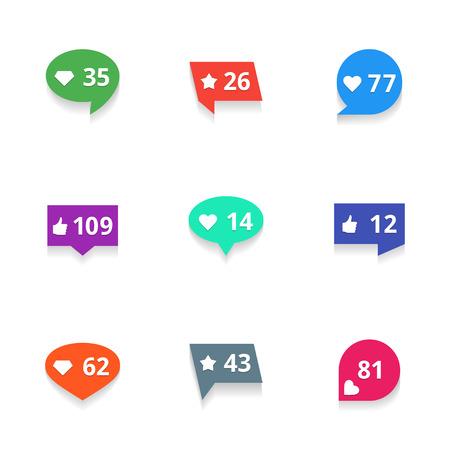 알림: Vector counter notification icons set on white background 일러스트