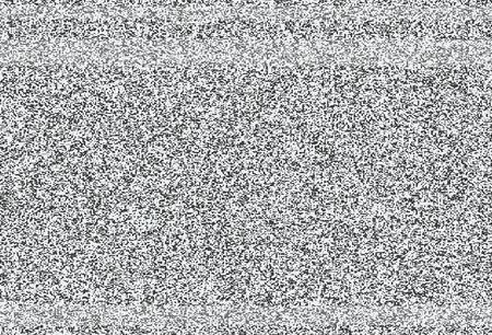 Geen signaal, lawaai van TV vectortextuur Stock Illustratie