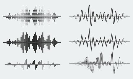 sonido: Ondas de sonido Vector