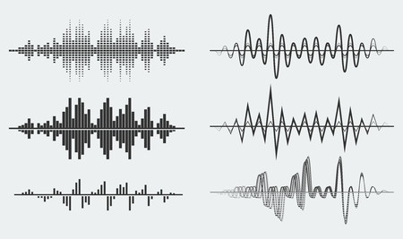 Vector sound waves Stok Fotoğraf - 43122320