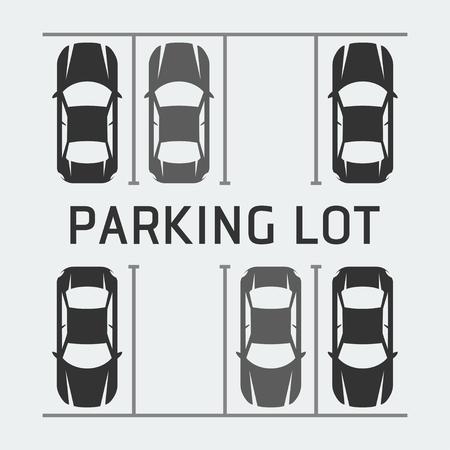 Vektor-Illustration der Parkplatz - Draufsicht