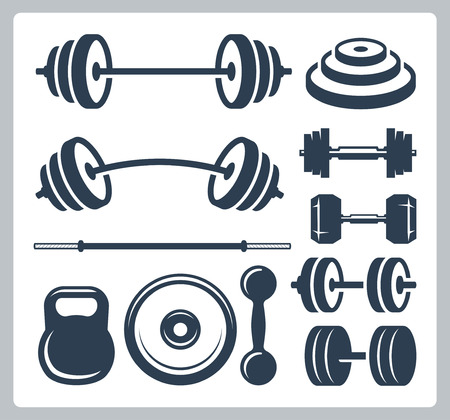 weightlifting: Set of sport weights for bodybuilding, fitness and weightlifting