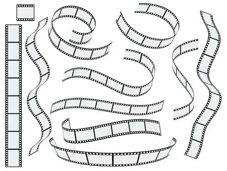 rollo pelicula: establecido de la tira de película del vector