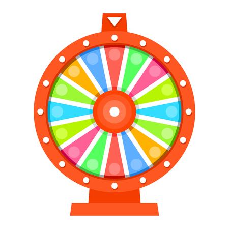 rueda de la fortuna: Rueda de la plantilla de dise�o plano fortuna
