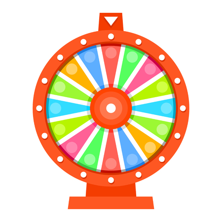 a wheel: Wheel of fortune flat design template