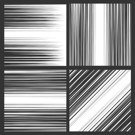 Comic book speed horizontal, vertical and diagonal lines background Vettoriali