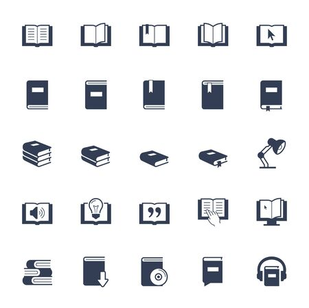 open book: Books, reading and learning icon set