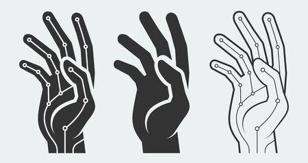 bionic: Bionic hand vector concept