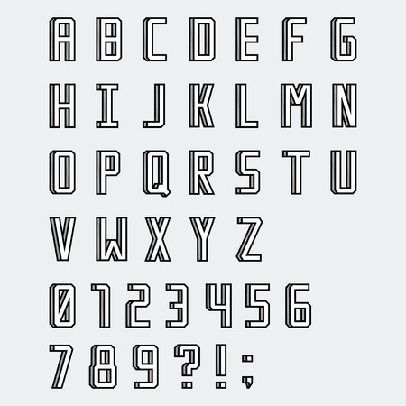 blocky: Simple linear blocky vector font with numbers