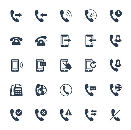 Komunikacja telefoniczna i zestaw ikon wektorowych