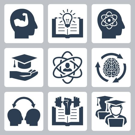 cognate: Knowledge and education related vector icons Illustration